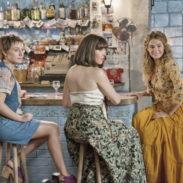 """This image released by Universal Pictures shows Alexa Davies, from left, Jessica Keenan Wynn and Lily James in a scene from """"Mamma Mia! Here We Go Again,"""" in theaters on July 20. (Jonathan Prime/Universal Pictures via AP)"""