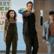 (from left) Nyla Chones (Celeste O'Connor), Millie Kessler in The Butcher's body (Vince Vaughn) and Josh Detmer (Misha Osherovich) in Freaky, co-written and directed by Christopher Landon.