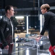 (from left) Jakob (John Cena) and Cipher (Charlize Theron) in F9, directed by Justin Lin.