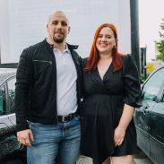 blogerka Nataša Mernik s partnerjem